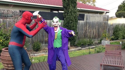 Spiderman Vs BAD DINOSAUR and Joker! Fun Superhero Kids Movie In Real Life!