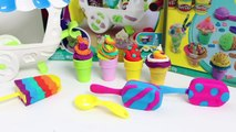 Play Doh Scoops n Treats DIY Ice Cream Cones Popsicles Sundaes Waffles Desserts Play Doh Ice Creams