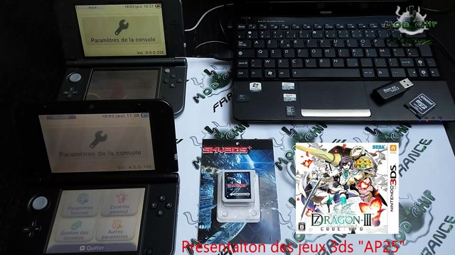 Sky3ds+ test du linker 3DS par Modchip France. Tuto complet