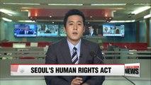 S. Korean law takes effect promoting N. Korean human rights
