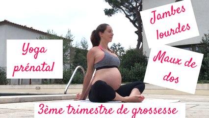 Grossesse ♡  20 minutes de yoga pour le troisième trimestre