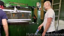 Crushing condom challenge and water bottle flipping challenge with hydraulic press