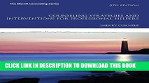 [PDF] Counseling Strategies and Interventions for Professional Helpers (9th Edition) (The Merrill