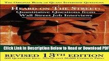 [Get] Heard on the Street: Quantitative Questions from Wall Street Job Interviews Free New