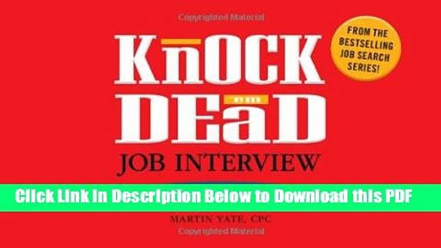[Read] Knock  em Dead Job Interview Flash Cards: 300 Questions   Answers to Help You Land Your