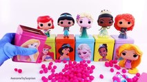 Disney Princess Frozen DIY Cubeez Play-Doh Surprise Eggs Dippin Dots Candy Jelly Beans Learn Colors!