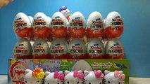 72 Kinder Surprise Eggs Happy Hello Kitty 40 Anniversary-Überraschungsei Auspacken, huevo sorpresa