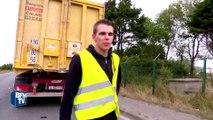 Calais: les routiers expriment leur colère face aux migrants