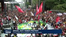Brazil anti-Temer protest : police clash with protesters rejecting new leader