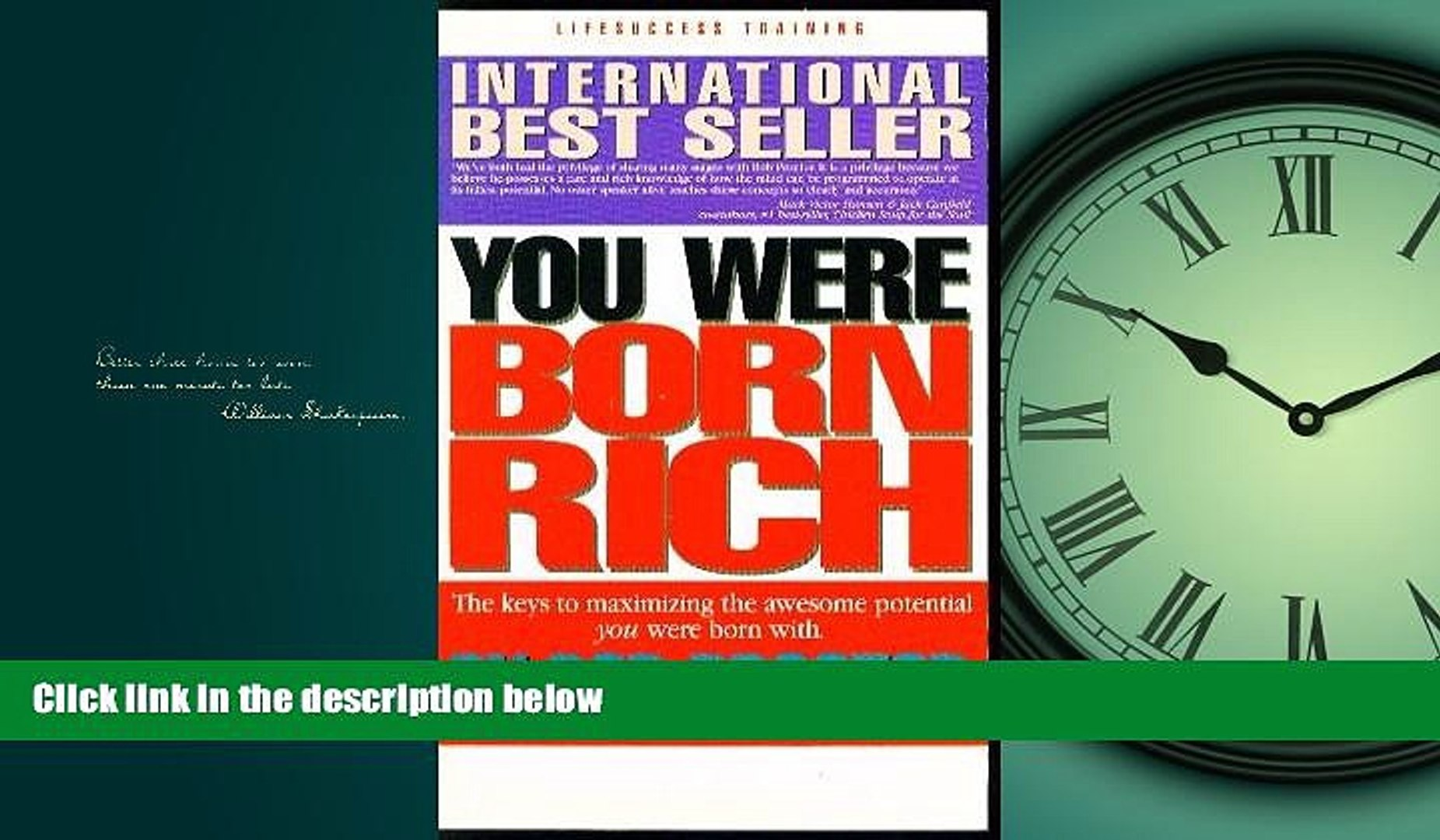 For you You Were Born Rich
