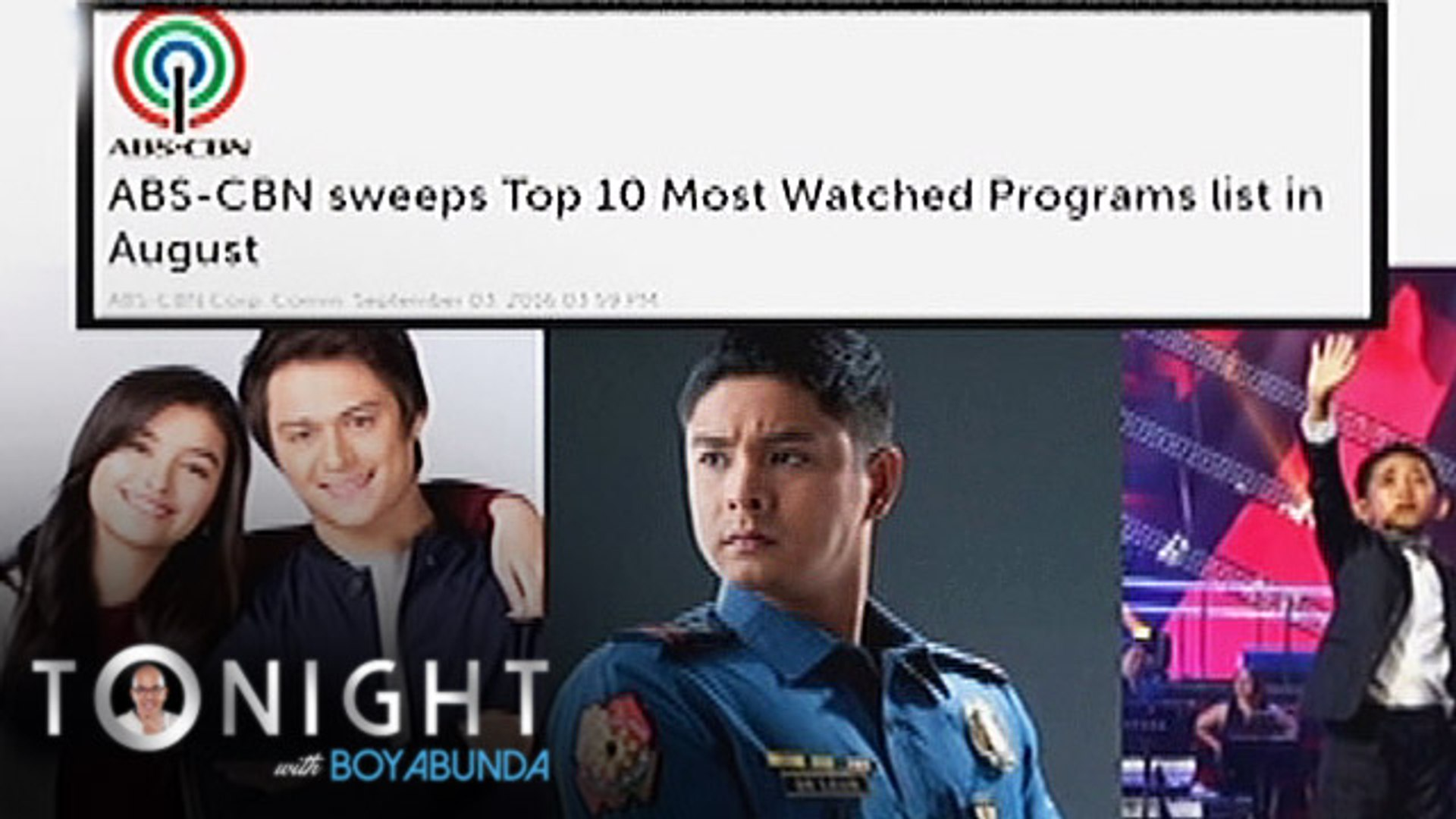 TWBA: Top 10 most watched TV programs in August