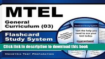 Read MTEL General Curriculum (03) Flashcard Study System: MTEL Test Practice Questions   Exam