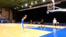 Premier shooting de Céline Dumerc avec Basket Landes