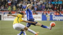 Soccer Star Megan Rapinoe Kneels During National Anthem