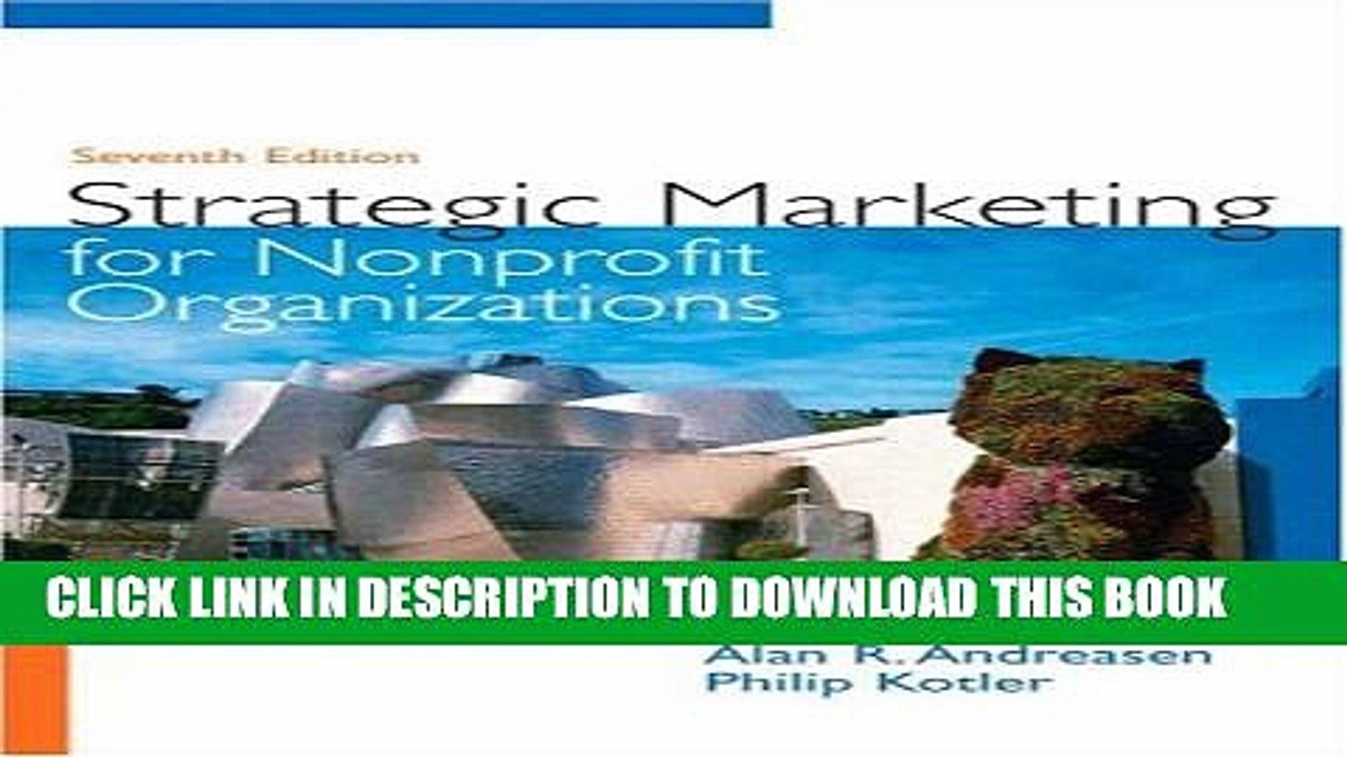 [Read PDF] Strategic Marketing for Non-Profit Organizations (7th Edition) Download Free