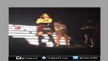"""La cantante Belinda arremete contra una fan """"aburrida"""" en pleno concierto-Video"""