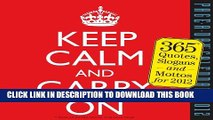 [PDF] Keep Calm and Carry On 2012 Calendar Popular Colection