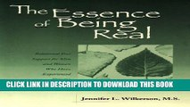 New Book The Essence of Being Real: Relational Peer Support for Men and Women Who Have Experienced