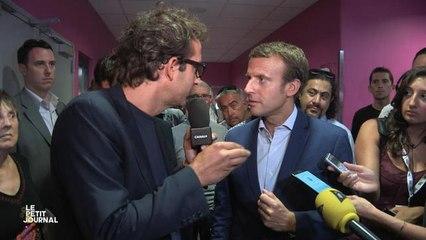 Quand Cyrille Eldin retrouve Emmanuel Macron - Le Petit Journal du 05/09 - CANAL+