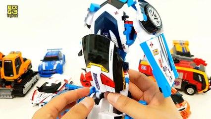 Tobot Police Rescue Fire Truck Poclain  Robot Car Toys 또봇 애슬론 경찰차 토네이도 포크레인 로키 소방차 발칸