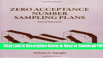 [Download] Zero Acceptance Number Sampling Plans, Fifth Edition Free Online