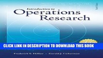 [PDF] Introduction to Operations Research with Access Card for Premium Content Full Collection