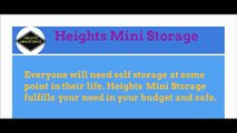 Best Moving Storage Company in Houston - Heights Mini Storage