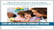 [PDF] Helping Young Children Learn Language and Literacy: Birth through Kindergarten (3rd Edition)