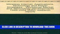 [PDF] Wireless Internet: Applications, Technology and Player Strategies - Worldwide Market and