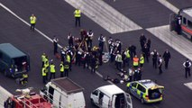 Protesters block runway at London City Airport