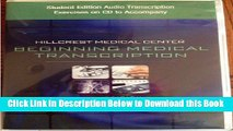 [Best] Student Edition Audio Exercises on CD for Ireland/Stein s Hillcrest Medical Center: