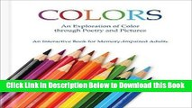 [Download] Colors - Alzheimer s / Dementia / Memory Loss Activity Book for Patients and Caregivers