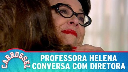Professora Helena conversa com Diretora