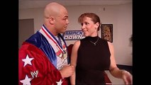 wwe. Stephanie McMahon & Kurt Angle & Paul Heyman Backstage SmackDown 03.06.2003 (HD)[Trim].mp4