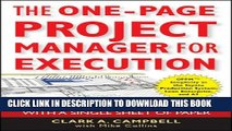 [PDF] The One-Page Project Manager for Execution: Drive Strategy and Solve Problems with a Single