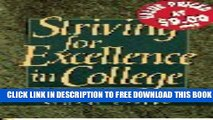 New Book Striving for Excellence in College: Tips for Active Learning