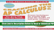 [Get] Princeton Review: Cracking the AP: Calculus AB   BC, 1999-2000 Edition (Cracking the Ap