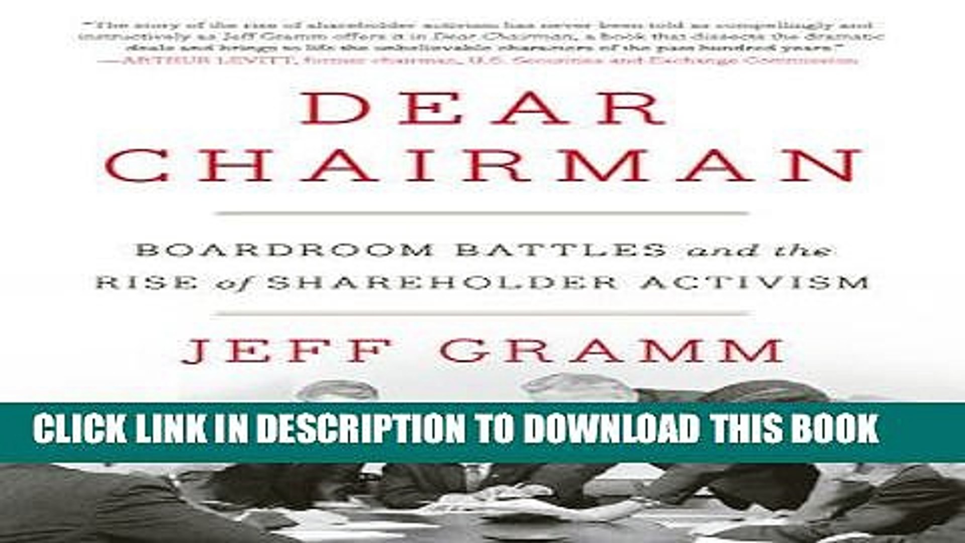 [PDF] Dear Chairman: Boardroom Battles and the Rise of Shareholder Activism  Popular Collection