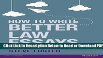 [Get] How To Write Better Law Essays: Tools and techniques for success in exams and assignments