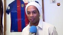 Ronaldinho, Villa, and Stoichkov, Barça ambassadors in New York