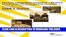[PDF] Sensory Integration Inventory for Individuals With Developmental Disabilities Popular
