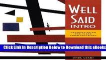 [PDF] Well Said Intro: Pronunciation for Clear Communication Online Ebook