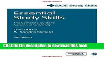 Read Essential Study Skills: The Complete Guide to Success at University (SAGE Study Skills