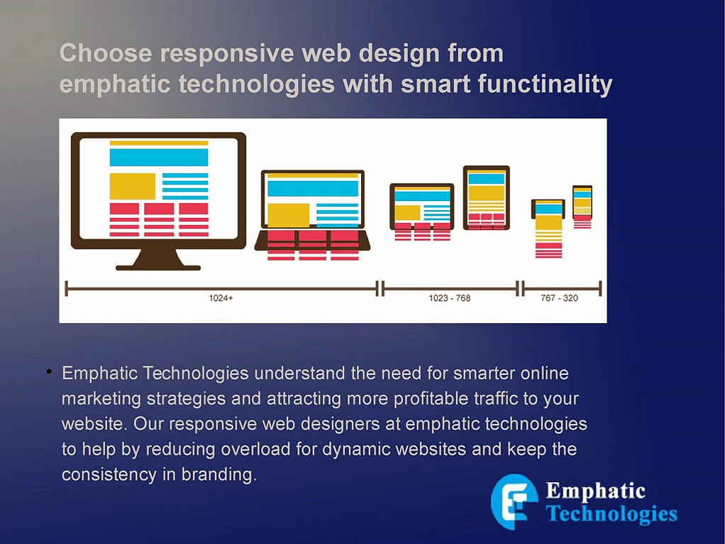Choose responsive web design from emphatic technologies with smart functinality