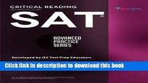 PDF SAT Critical Reading Workbook (Advanced Practice Series) (Volume 4)  PDF Free