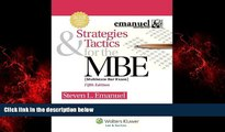 For you Strategies   Tactics for the MBE, Fifth Edition (Emanuel Bar Review)