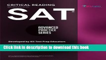 PDF SAT Critical Reading Workbook (Advanced Practice Series) (Volume 4)  Ebook Online