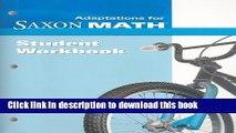 Read Saxon Math Intermediate 3: Student Adaptation Workbook Adaptation  Ebook Online
