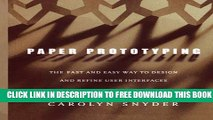 Collection Book Paper Prototyping: The Fast and Easy Way to Design and Refine User Interfaces