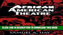 [PDF] African American Theatre: An Historical and Critical Analysis (Cambridge Studies in American